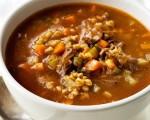 Warming and nourishing lamb shank and barley soup